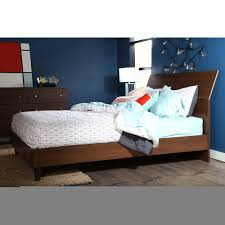 Modern Bedroom Set Dark Wood Furniture Dark Brown King Size Platform Bed Frame With Head Board
