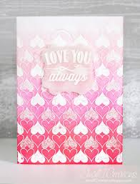 Ombre Background Small T Creations Feminine Love Card With Ombre Background