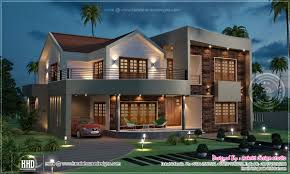 night view of luxury villa in 3800 sq feet house design plans
