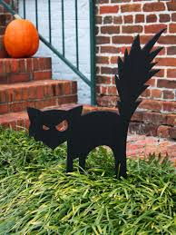 Home Made Decoration by Black Cat Outdoor Halloween Decoration Hgtv