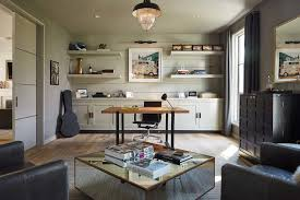 Open Home Office Sparkling Back Wall Design Of Office Home Office Transitional With