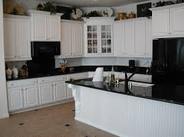 Kitchen Ideas With White Cabinets White Kitchen Cabinets With Black Granite Countertops Best White