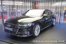 2018 audi a8 front three quarters left side at 2017 tokyo motor