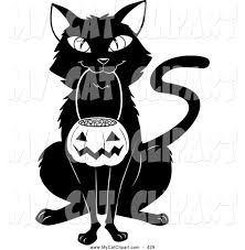 royalty free halloween stock cat designs