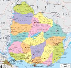 Political Map Of South America Detailed Clear Large Map Of Uruguay Ezilon Maps