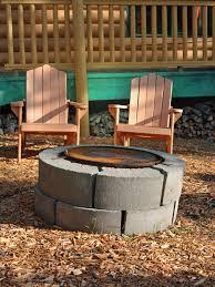 cinder block fire pits design ideas hgtv