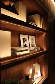 Home Library Lighting Design by Ambientes Decorados Com Leds Shelves Lights And Library Shelves