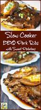 slow cooker bbq pork ribs with sweet potatoes this mama cooks