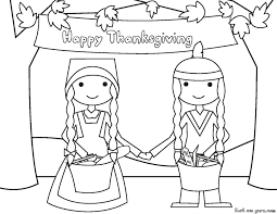 thanksgiving and indians cute thanksgiving pilgrim coloring pages getcoloringpages com