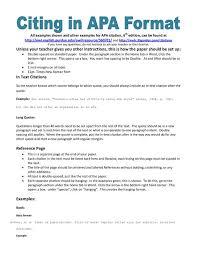 example of apa citation in paper   APA citation handout Pinterest