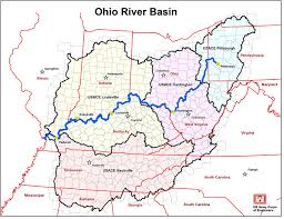 Map Of The Ohio River by Orba