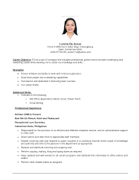 Examples Of Resumes Resume It Objectives Internship Resume Objective Best Resume Good