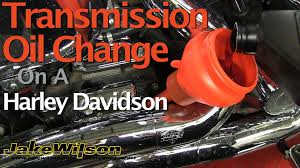 harley davidson transmission oil chage youtube