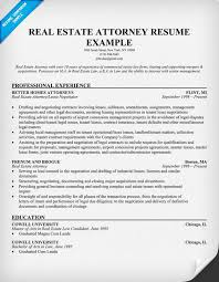Law Resume Samples by Real Estate Attorney Resume Example Resume Samples Across All
