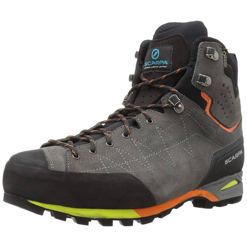Scarpa Zodiac Plus GTX Backpacking Boots Shark/Orange Medium 43.5 71110/200.1-SrkOrg-43.5