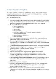 awesome retail business analyst job description resume