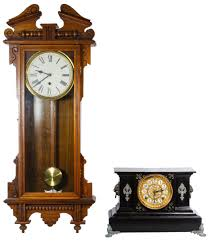 Ansonia Mantel Clock Lot 759 Waterbury Wall Clock And Ansonia Mantel Clock Ansonia