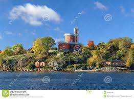 Small Castle by Small Castle On Kastellholmen Island In Stockholm Royalty Free