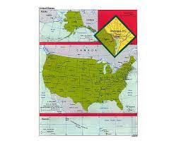 Political Map Of United States And Canada by Maps Of Usa Detailed Map Of United States Of America In English