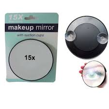 magnifying mirror 15x suction cup makeup compact cosmetic face