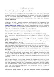 Amazing Cover Letters Samples  resume cover letter examples  cover     Jimmy Sweeney Cover Letters   amazing cover letters samples