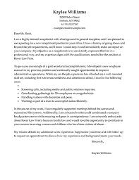 Application letter for hotel receptionist job Sample Of Cover Letter For  Hotel Receptionist Cover Letter Templates