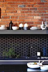 Brick Tiles For Backsplash In Kitchen by 36 Eye Catchy Hexagon Tile Ideas For Kitchens Digsdigs