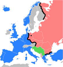 Western Europe Political Map by Iron Curtain Wikipedia