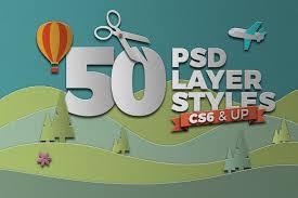 papercraft photoshop layer styles designdell