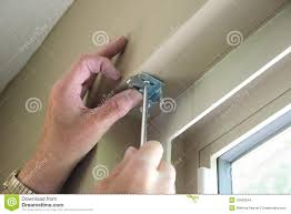 installing blinds stock images image 19433544