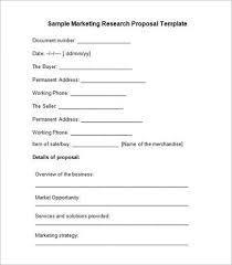 Research proposal marketing