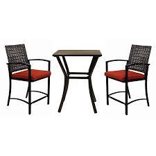 Cast Iron Patio Set Table Chairs Garden Furniture - shop garden treasures lunburg 3 piece black aluminum patio dining