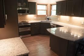 Dark Kitchen Cabinets With Backsplash Dark Kitchens With Dark Flooring Top Home Design