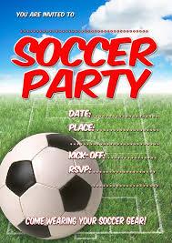 Sport Invitation Card Soccer Party Invitations Theruntime Com