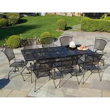 Cast Iron Patio Set Table Chairs Garden Furniture - furniture large black iron outdoor dining table with chair using