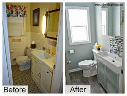 Small Bathroom Makeovers by Diy Bathroom Remodel Big Items Like The Vanity Top And Tile Can