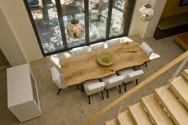 dining table with bench and chairs open plan dining room design