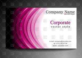 Business Card Eps Template Corporate Business Card Template With Purple Waves Vector Image