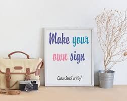 Personalized Signs For Home Decorating Make Your Own Sign Etsy