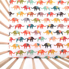 crib sheet colorful elephants fitted crib sheet baby