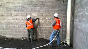 injection foam into cinder block construction youtube