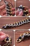 DIY: CC Skye Inspired Two Tone Chain Bracelet | Stripes & Sequins