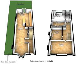 small victorian end of terrace with a double storey side return