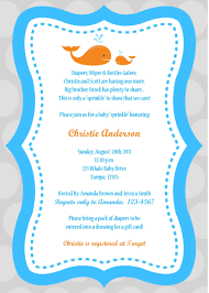 Invitation Cards For Baby Shower Templates Whale Baby Shower Invitations Theruntime Com