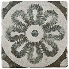 Floor And Home Decor Merola Tile Costa Cendra Decor Zinnia 7 3 4 In X 7 3 4 In
