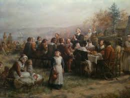 pilgrims on thanksgiving the double pull of the first thanksgiving jack t scully