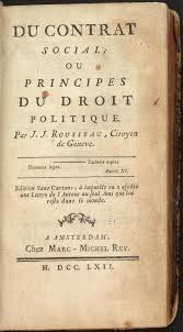 """The """"Social Contract"""" written by Jean-Jacques Rousseau which helped to influence the French Revolution in the late 18th century."""