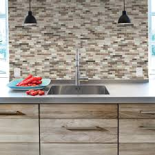 kitchen grey smart tiles home depot for kitchen backsplash ideas smart tiles home depot muretto durango in mosaic brown for kitchen decoration ideas