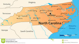 United States Map Major Cities by North Carolina Map Illustration Great State Usa Featuring Its Main Cities Rivers Lakes Highest Peak 36422152 Jpg