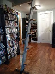 space saving loft ladder stairs 100 salvage materials 4 steps